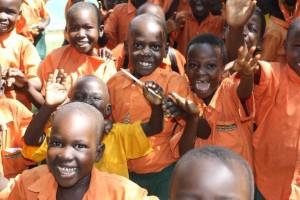 Kids in Uganda nach Spende
