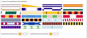 Große Auswahl an Muster und Farben im Fanschal-Konfigurator
