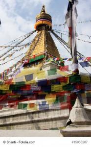 Besondere Fahnen: Tibetische Gebetsfahnen