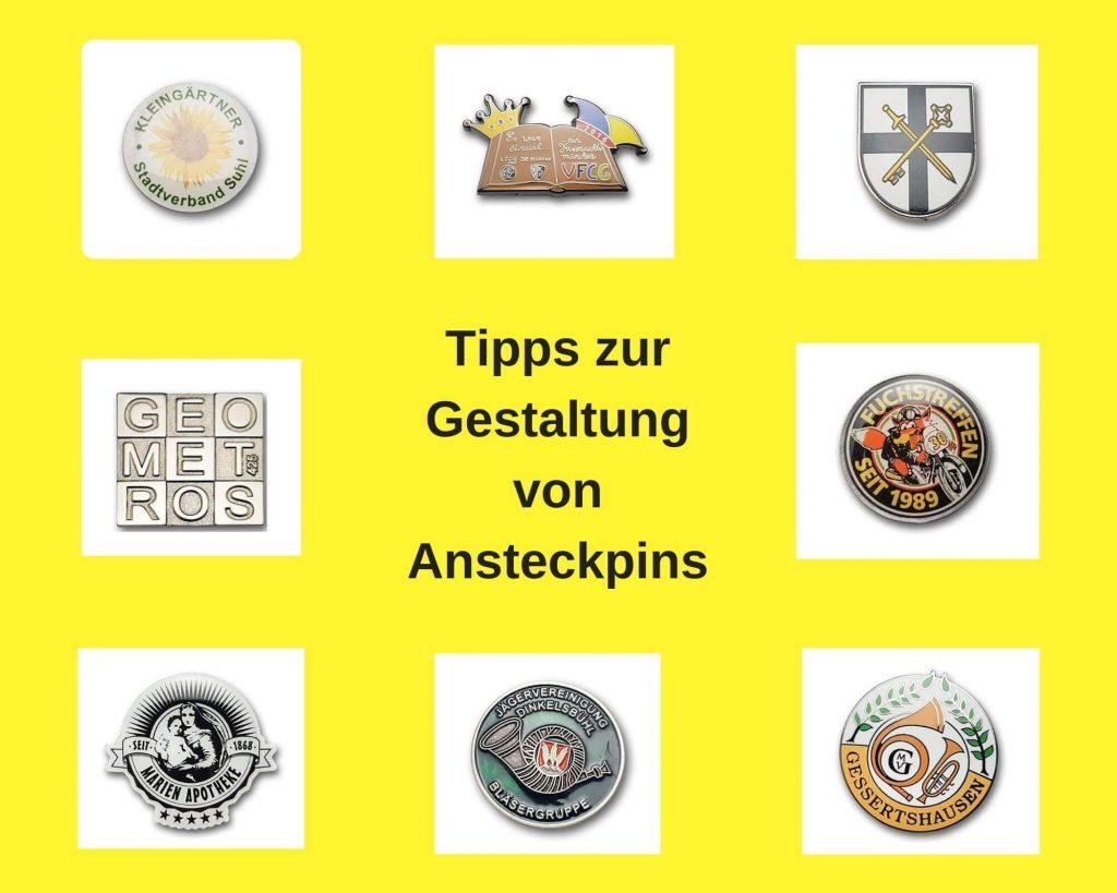 Ansteckpins gestalten - Tipps