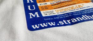 Kopiertransferdruck Textilfläche