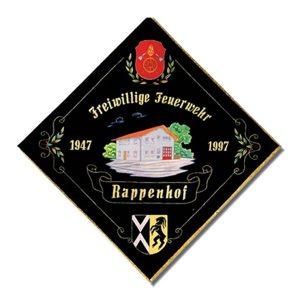 gestickte Fahne Freiwillige Feuerwehr Rappenhof