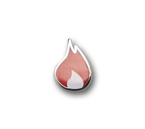 Ansteckpins bestellen | Pins Kaltemailliert Flamme