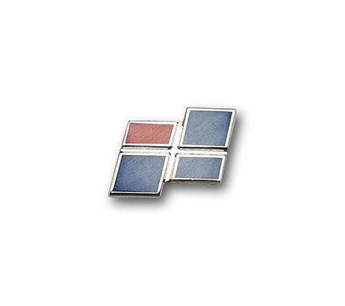 Ansteckpins bestellen | Pins Kaltemailliert Quadrate