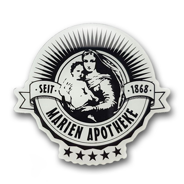 Bedruckte Pins Apotheke