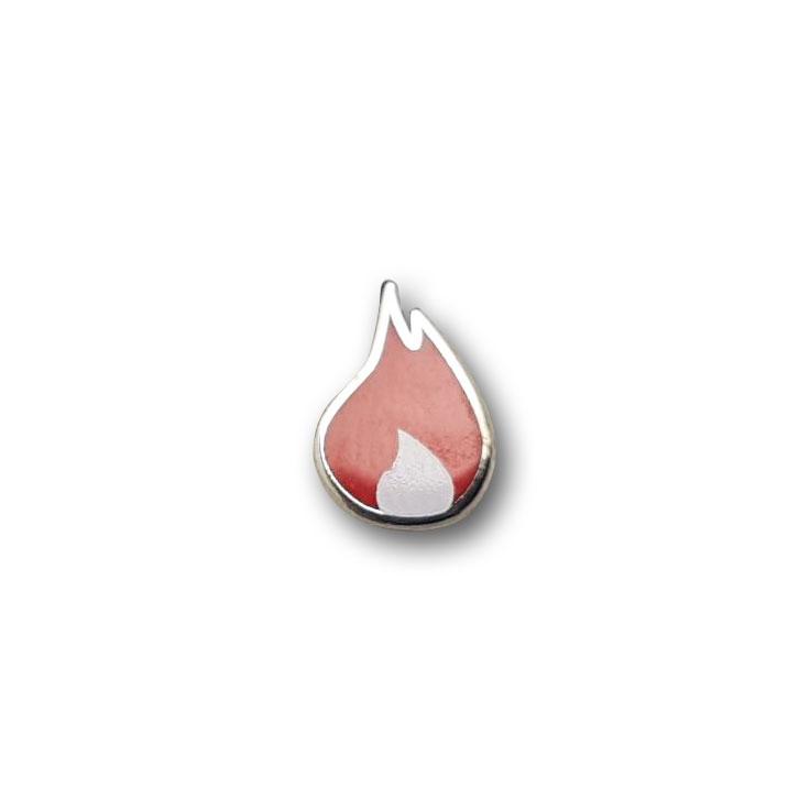 Kaltemaillierte Pins Flamme