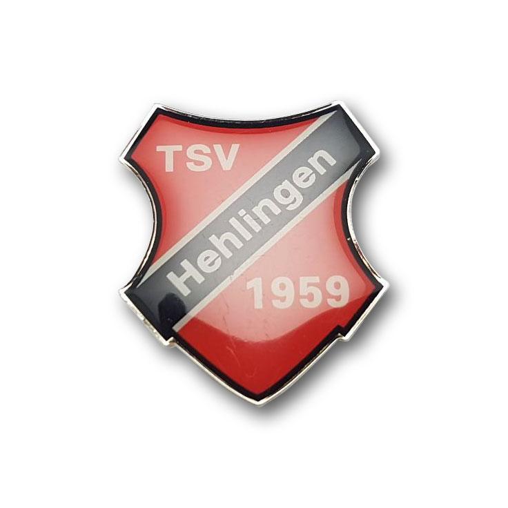 Bedruckte Pins TSV Hehlingen