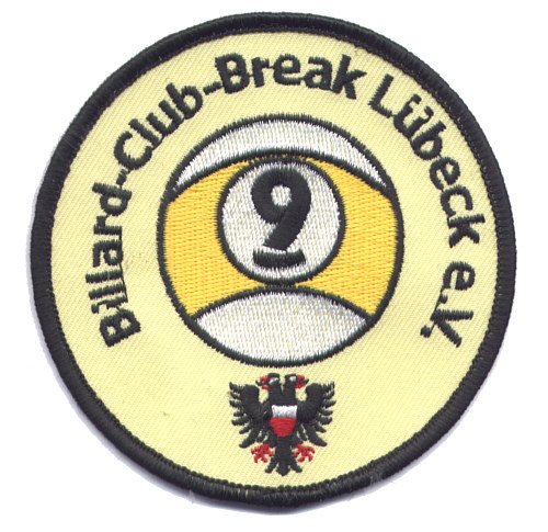 Aufnäher Sportverein Billard-Club-Break Lübeck e. V.