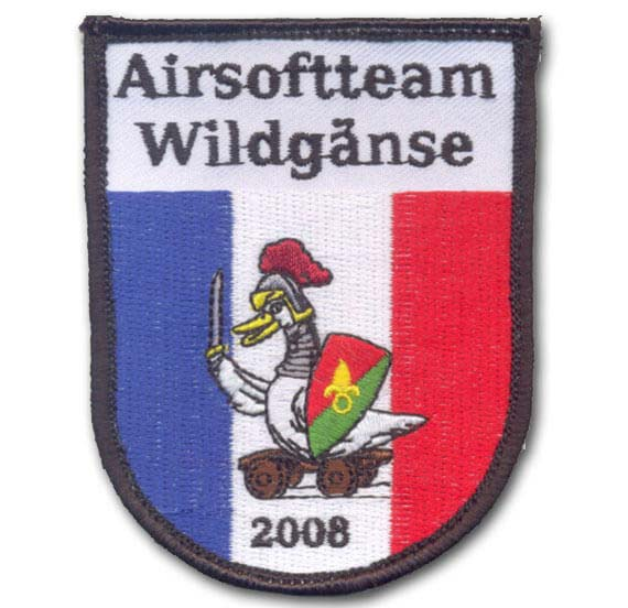 Paintball Aufnäher Airsoftteam Wildgänse