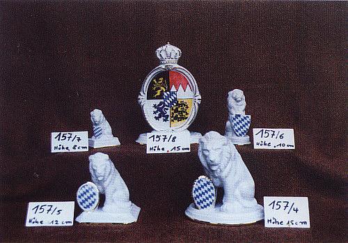 Wappen Raute Bayern Bayerischer Löwe Porzellan im Geschenkkarton