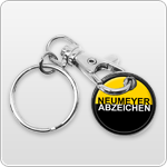 Key ring decoration with chain and ring
