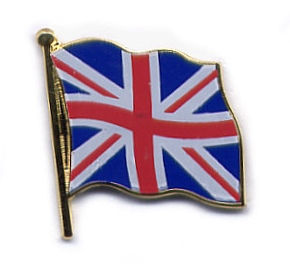 Englische Flagge Pin