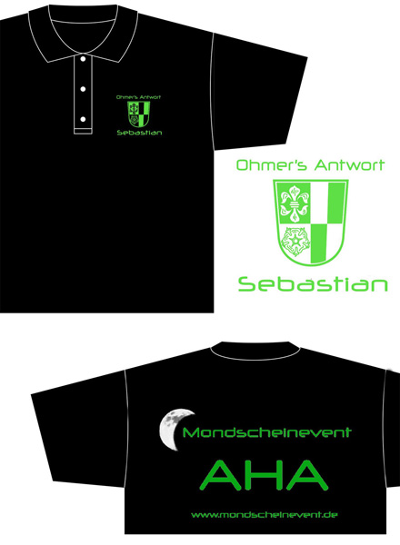 T-shirts vom Mondscheinevent in Aha 2006