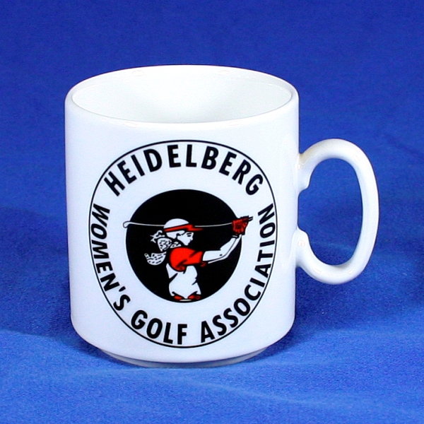 Porzellanbecher bedrucken Women´s Golf Association Heidelberg